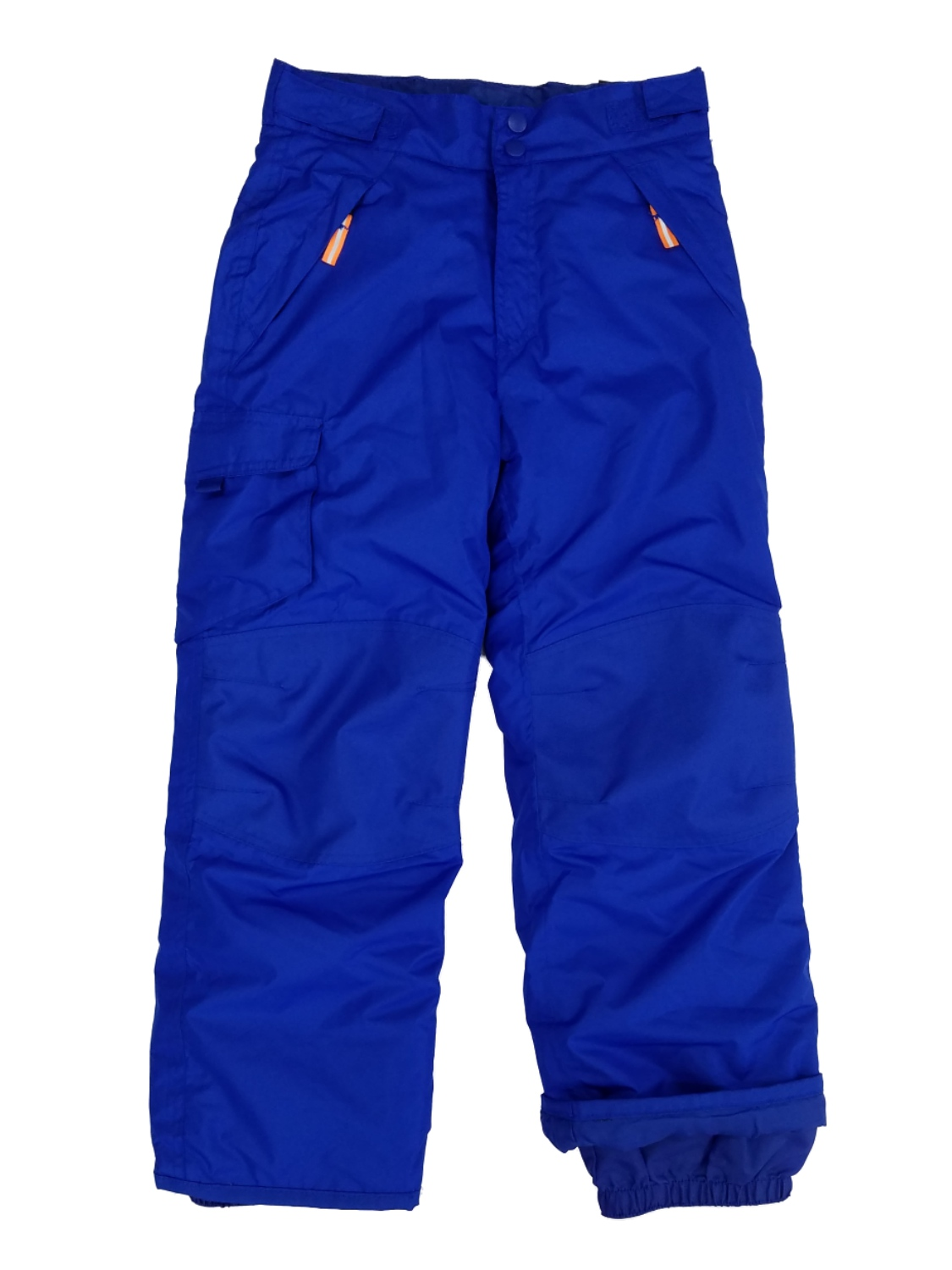 Boys Royal Blue Water & Wind Resistant Lightweight Insulation Cargo Snow Pants