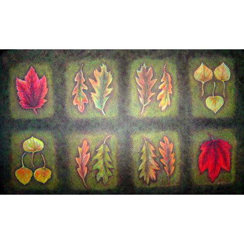 Custom Printed Rugs Fallen Leaves Doormat