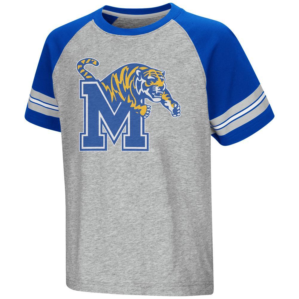official photos f0e1c cde8e University of Memphis Tigers Raglan Tee Youth Baseball Shirt