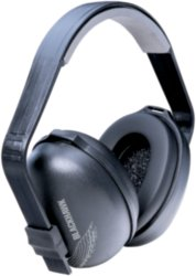 Nrr27 Black W blk Cup Blackhawk Dielect Earmuff, Dielectric, three-position earmuff By Tasco by