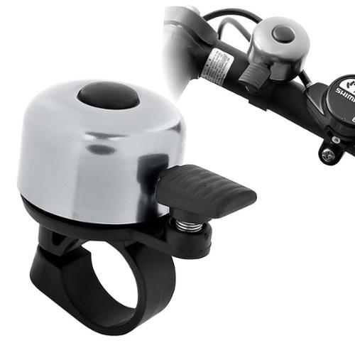 """Insten Mini Alloy Ping Style Bicycle Bike Bell Ring Horn - Silver (Diameter 0.87"""")"""
