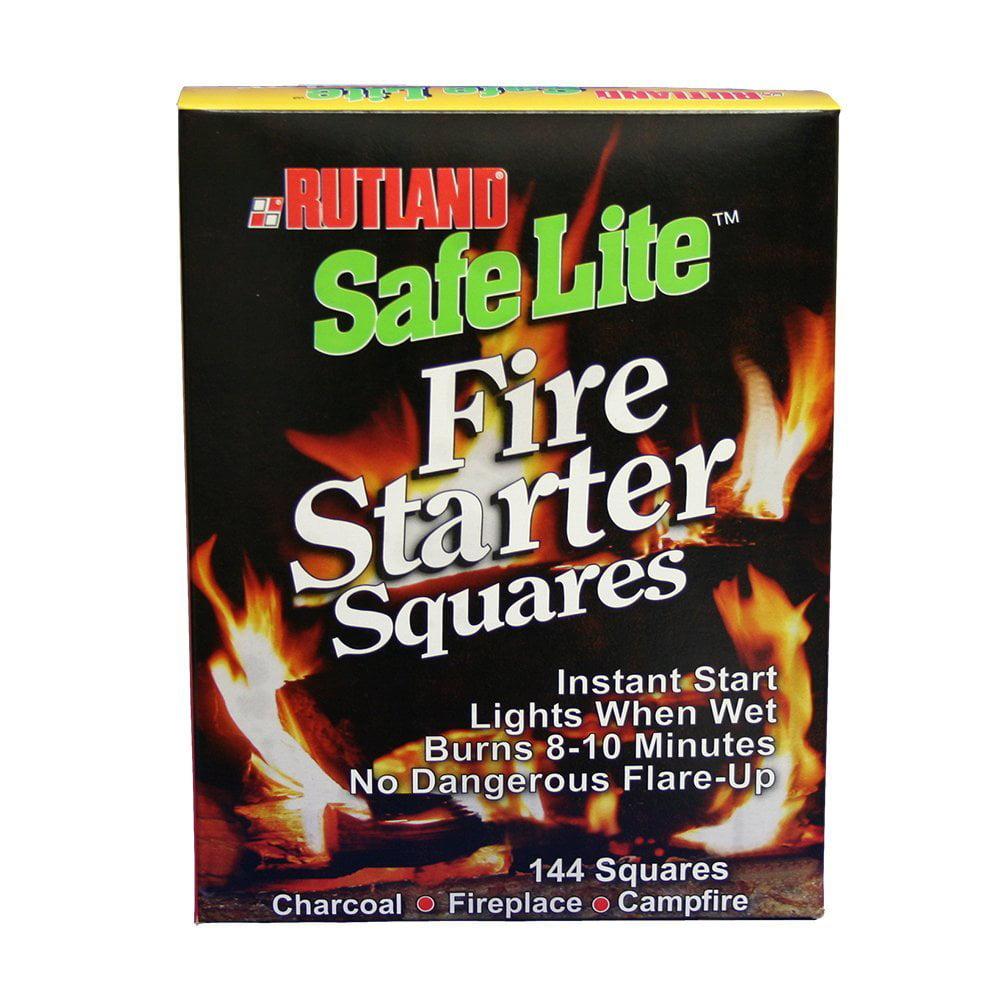 50B Safe Lite Fire Starter Squares, 144 Squares, USA, Brand Rutland by