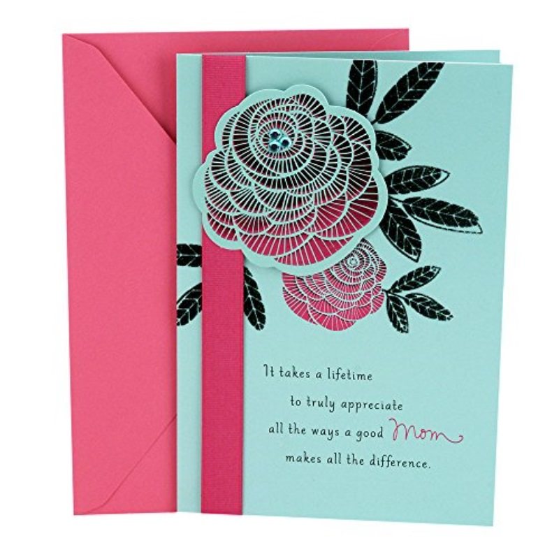 Hallmark Birthday Greeting Card to Mother (Thank You, Mom)
