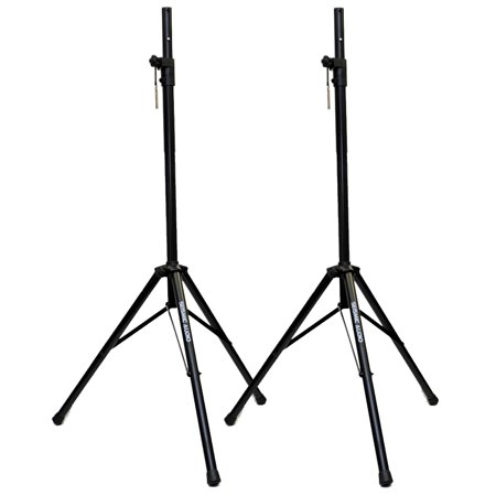 Seismic Audio  – NEW Pair of PA/DJ Tripod Speaker Stand Black – SpeakerStandLGPair