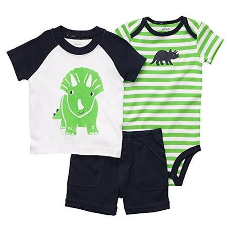 c55e9ca05 Carter's - Carter's Baby Boys' Diaper Cover 3 Piece Short Set - Dino Rhino-  Newborn - Walmart.com