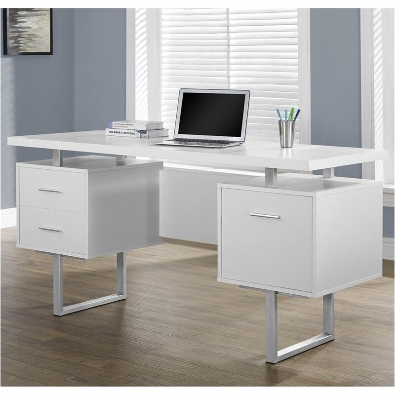 "Pemberly Row 60"" Office Desk in White"