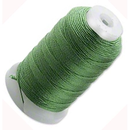 Silk Thread Cord Size E Dark Green 0.0128 Inch 0.325mm Spool 200 Yd