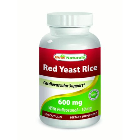 Best Naturals Red Yeast Rice 600 mg with Policosanol 10 mg 120