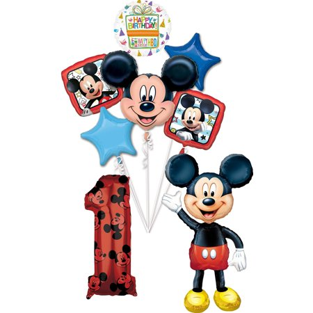 Mickey Mouse 1st Birthday Party Decorations (Mickey Mouse Party Supplies 1st Birthday 52
