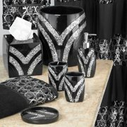 Sweet Home Collection 5 Piece Bathroom Accessory Set, Sinatra Silver