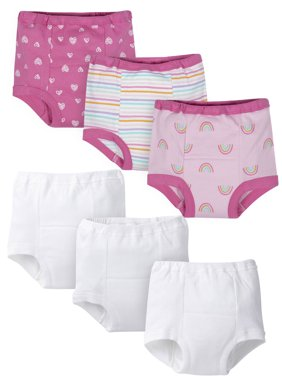 Gerber Organic Toddler Girl Training Pants, 6pk