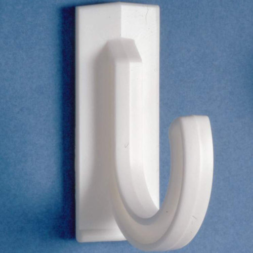 Multi-Use White Plastic Self-Adhesive Hooks (Case of 144 )