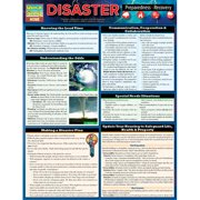 BarCharts 9781423221531 Disaster Preparedness & Recovery Quickstudy Easel