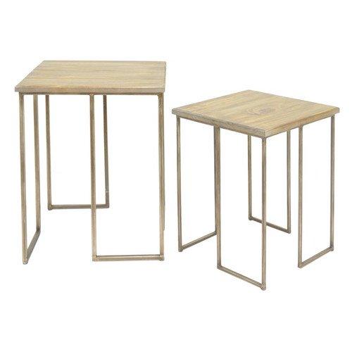 Three Hands 2 Piece End Table Set Walmart Com