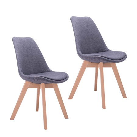 Contemporary Room Chairs, Modern Side Chair for Kitchen, Diningroom, Living  Room, Bedrooms and More 2 Pack