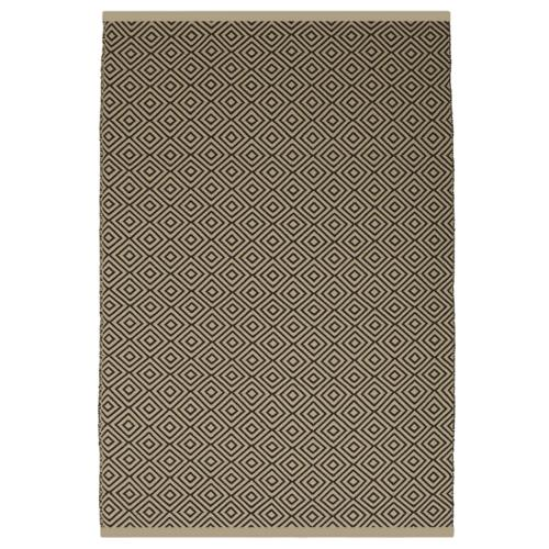 Indo Hand-woven Veria Almond and Brown Geometric Flatweave Area Rug (8' x 10')
