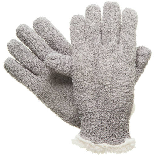 Essentials by Isotoner Women's Solid Knit Glove with Sherpasoft Lining