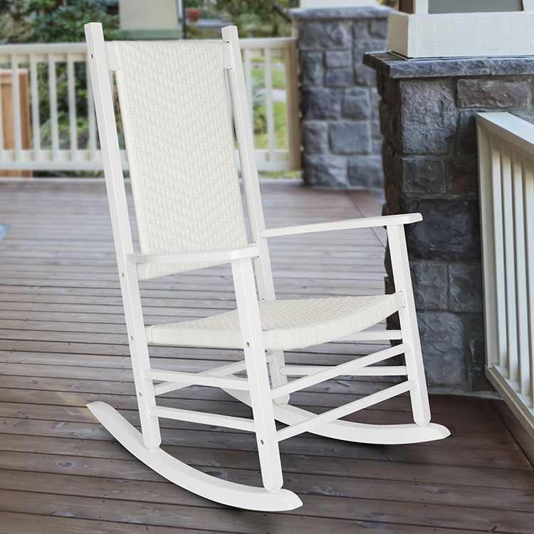 Shine Company Hampton Porch Rocker - White