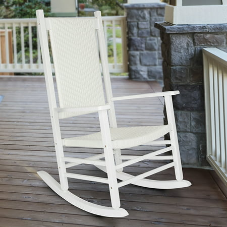 Shine Company Hampton Porch Rocker - White