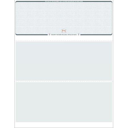 Blank Check Stock - 250 Blank Computer Check Stock - Check on Top - Linen Gray (Gray)