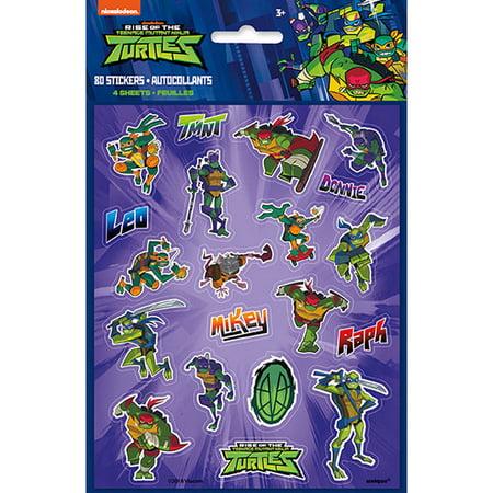 Teenage Mutant Ninja Turtles Sticker Sheets (4) - Ninja Turtle Stickers