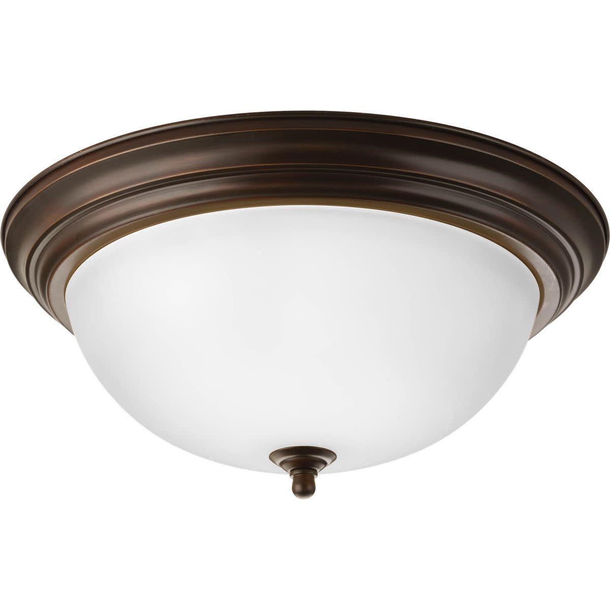 """Progress Lighting P3926-ET Dome 15"""" Wide 3 Light Flush Mount Ceiling Fixture with Bowl Shade"""