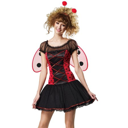hgm international sexy ladybug corset outfit lady bug halloween costume
