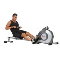 Sunny Health Fitness SF-RW5515 Magnetic Rowing Machine, LCD Monitor