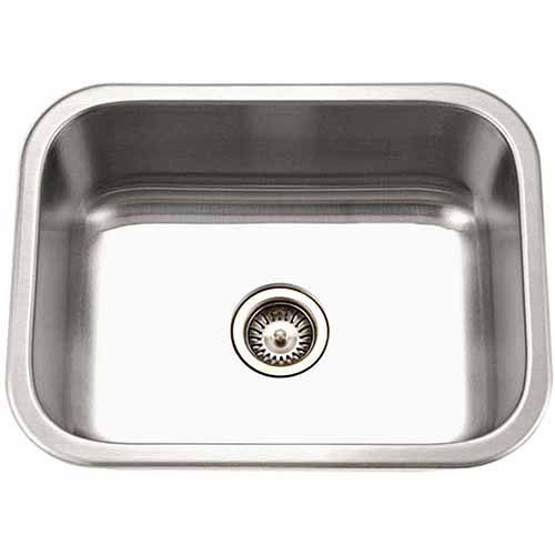 Houzer MS-2309-1 Medallion Series Undermount Stainless Steel Single Bowl Kitchen Sink