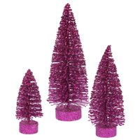 Magenta Glitter Oval Tree Set
