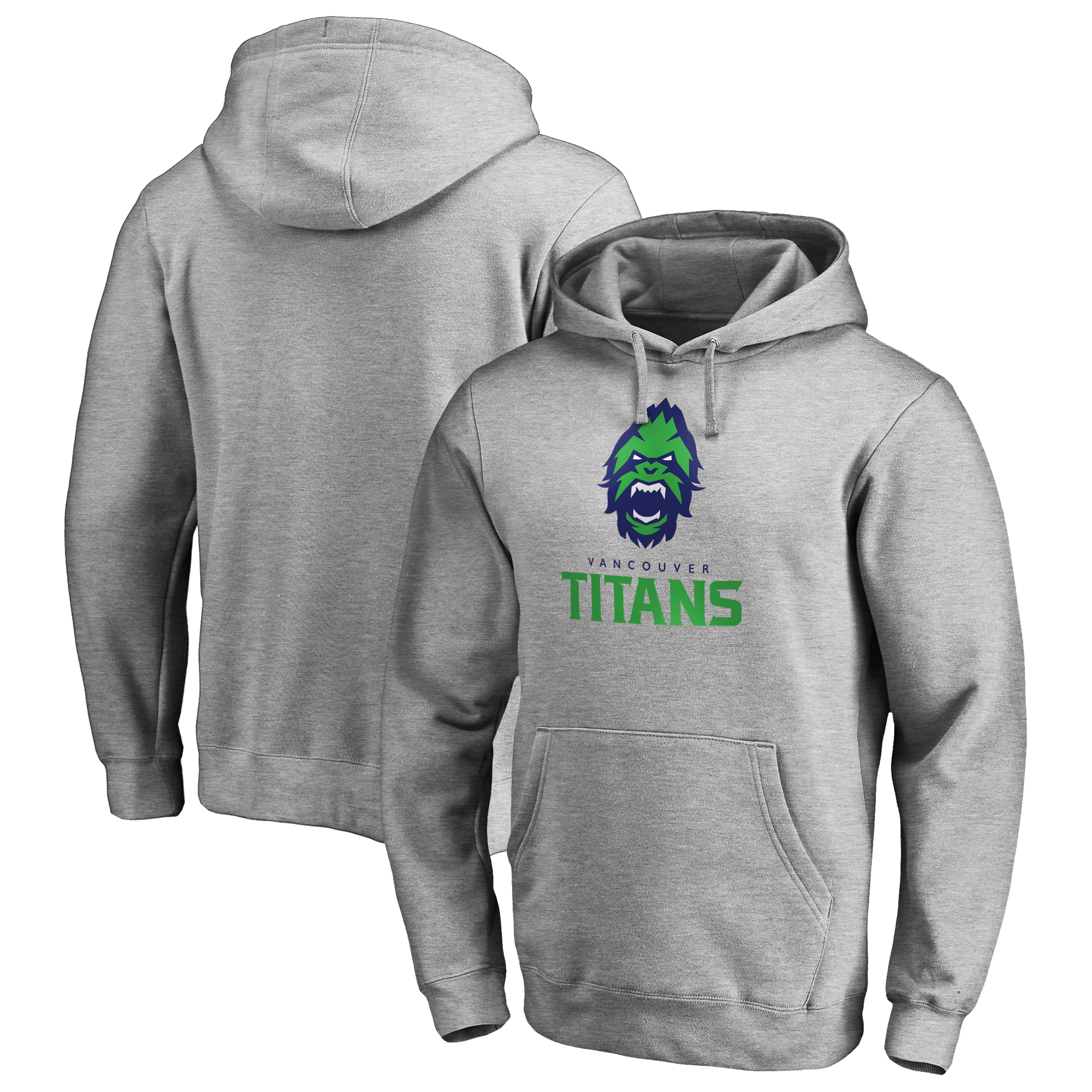 Vancouver Titans Fanatics Branded Team Identity Pullover Hoodie - Heathered Gray