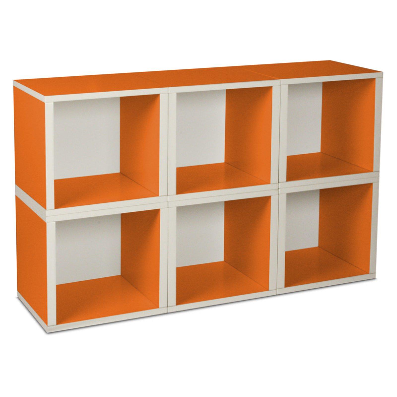 Way Basics Eco Stackable Modular Storage Cubes (6 Pack), Green