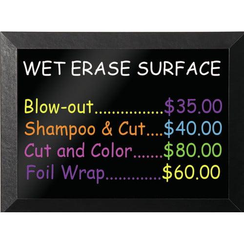 Mastervision Kamashi Wet-Erase Wall Mounted Chalkboard