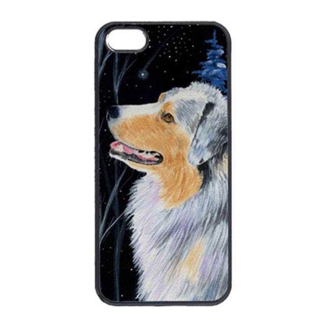 Carolines Treasures SS8382IP5 Starry Night Australian Shepherd Cell Phone Cover Iphone 5 - image 1 de 1