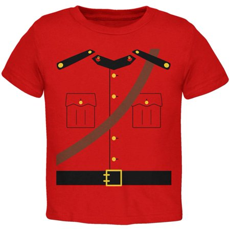 Halloween Canadian Mounty Police Costume Toddler T Shirt - Canada Halloween