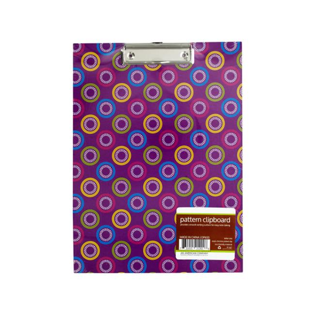 Bulk Buys OP655-48 Pattern Clipboard With Steel Chrome Pl...