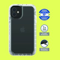 onn. Clear Rugged Case for iPhone 11 Pro Max, 11, XR, 8 Plus, 8, 7 Plus, 7, 6 Plus, 6