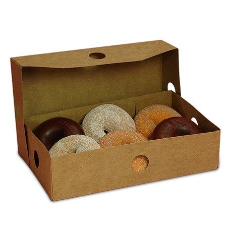 Donut Box - Kraft Two Piece Donut Box 9-3/4