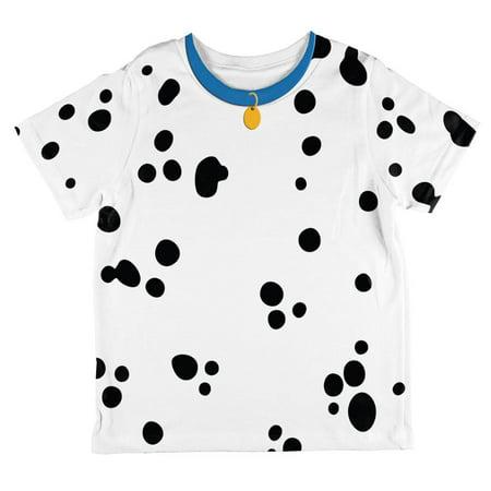 Dog Dalmatian Costume Blue Collar All Over Toddler T Shirt