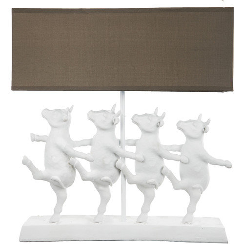 A&B Home Group, Inc French Chic Garden 16'' H Table Lamp with Rectangular Shade