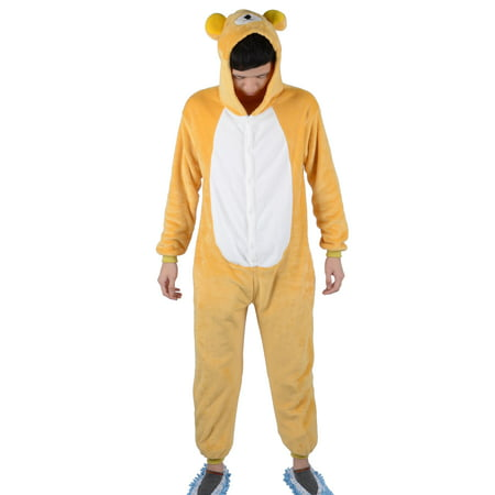 Simplicity Unisex One Piece Pajamas Loungewear for Cosplay, Rilakkuma, - Rilakkuma Costume