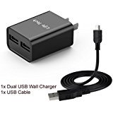 Dual USB AC Home Wall Charger + USB Charger_Data Sync Cable For Nikon Coolpix S7000, S9600, S9700, S9900 , S9900s, P900s