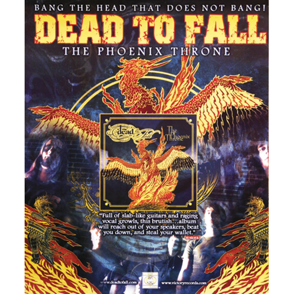 Dead To Fall - Concert Promo Poster
