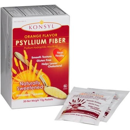 Konsyl Natural Fiber - Konsyl Orange Flavor Psyllium Fiber Powder Packets, 30 each