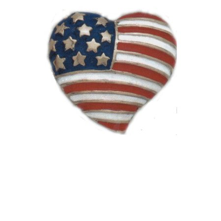 USA American Flag in Heart Pack of 4 Pins Compassionate Americian Lapel Pin