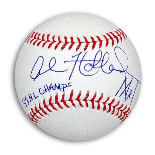 "MLB - Al Holland Autographed MLB Baseball Inscribed ""83 NL Champs"" & ""Mr. T"""