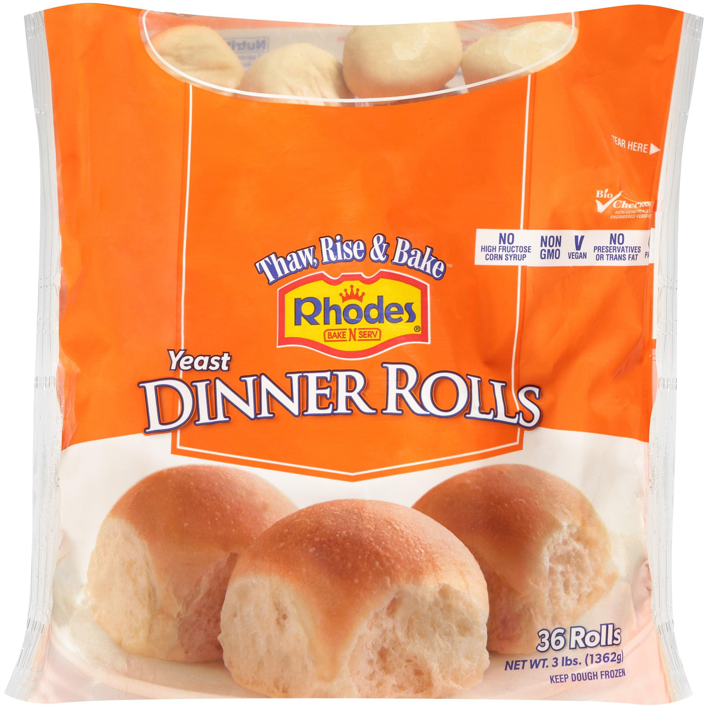 Rhodes Bake N Serv Yeast Dinner Rolls 36 Ct Bag Walmart Com