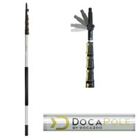 DocaPole 6 - 24 foot Extension Pole Multi-Purpose Telescopic Pole for Window Cleaning, Gutter Cleaning, Hanging Christmas Lights Bulb Changer and Paint Roller Telescoping Pole