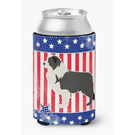 USA Patriotic Red Border Collie Can or Bottle Hugger - image 1 de 1