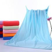 Newly Upgraded Version Multipurpose Microfiber Absorbent Fast Drying Bath Beach Towel Washcloth Swimwear Hair Towel Sports Fitness Towels Sky Blue